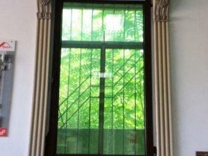 Окно пластиковое Troсal. Цвет орех. Фурнитура Roto