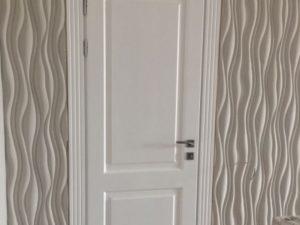 Дверь из массива сосны, 2.1м х 0.9м, белая краска